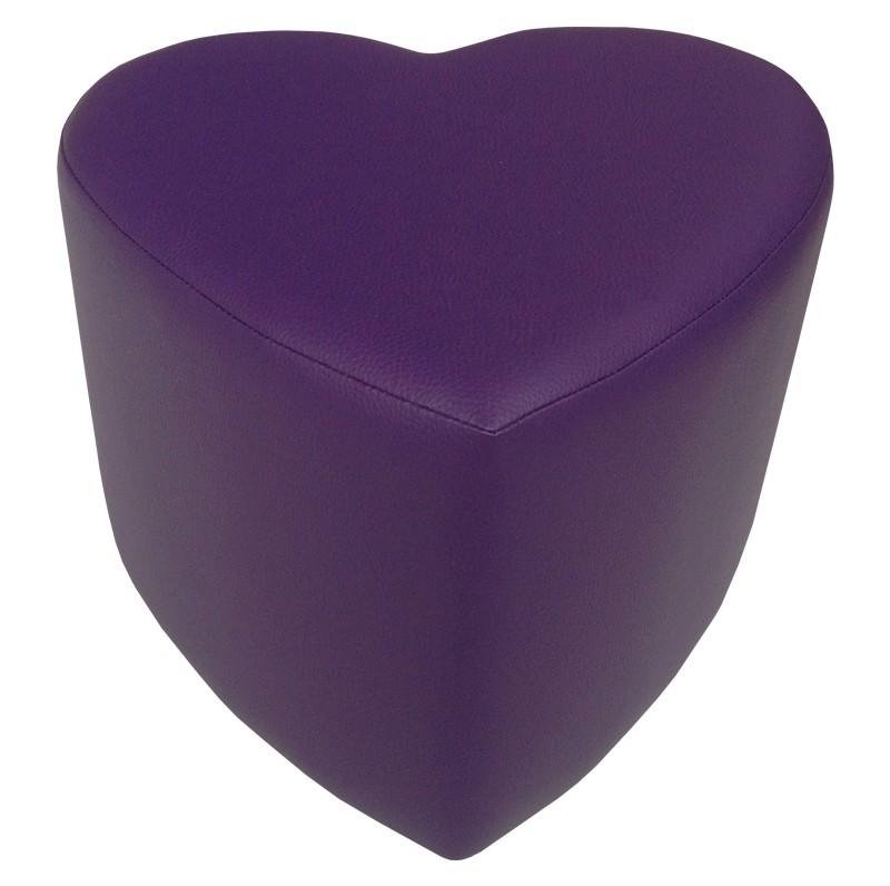 sitzhocker hocker sitzw rfel herz herzform lila 44x44x35. Black Bedroom Furniture Sets. Home Design Ideas