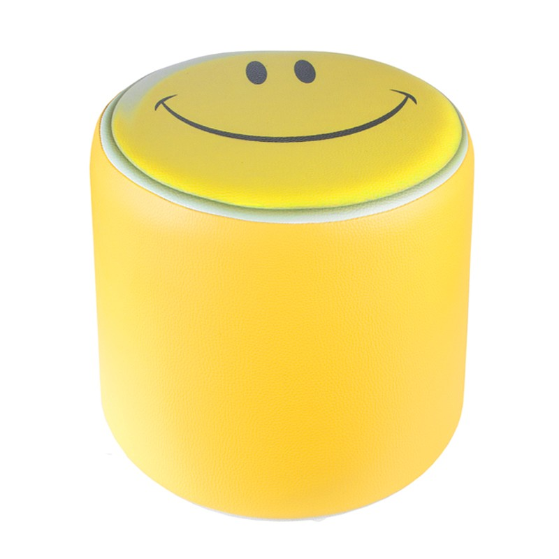 sitzhocker kinderzimmer sitzw rfel hocker bedruckt smiley gelb 34 cm x 34 cm ebay. Black Bedroom Furniture Sets. Home Design Ideas