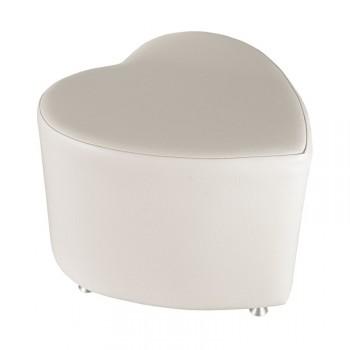 sitzhocker sitzw rfel herzform weiss mit aluminium. Black Bedroom Furniture Sets. Home Design Ideas