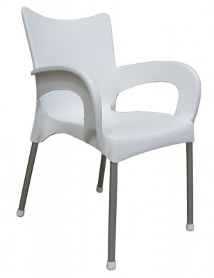 gartenstuhl alu como mit armlehne farbe wei sonderangebote. Black Bedroom Furniture Sets. Home Design Ideas