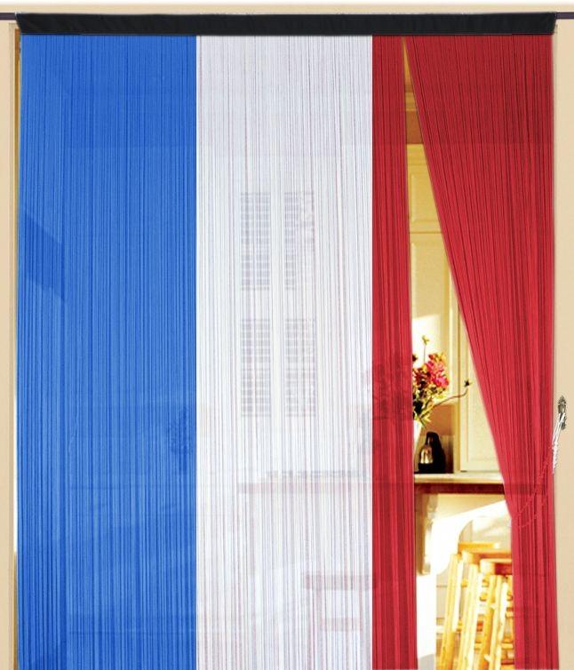 fadenvorhang frankreich 150 cm x 300 cm fadenvorhang fadenvorhang fahne liga l nderflaggen. Black Bedroom Furniture Sets. Home Design Ideas