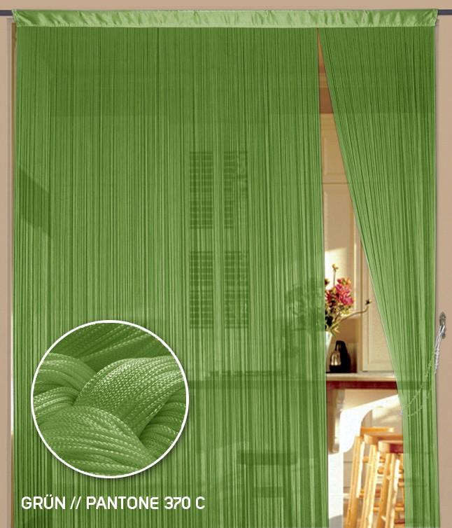 Fadenvorhang 90 cm x 240 cm (BxH) grün