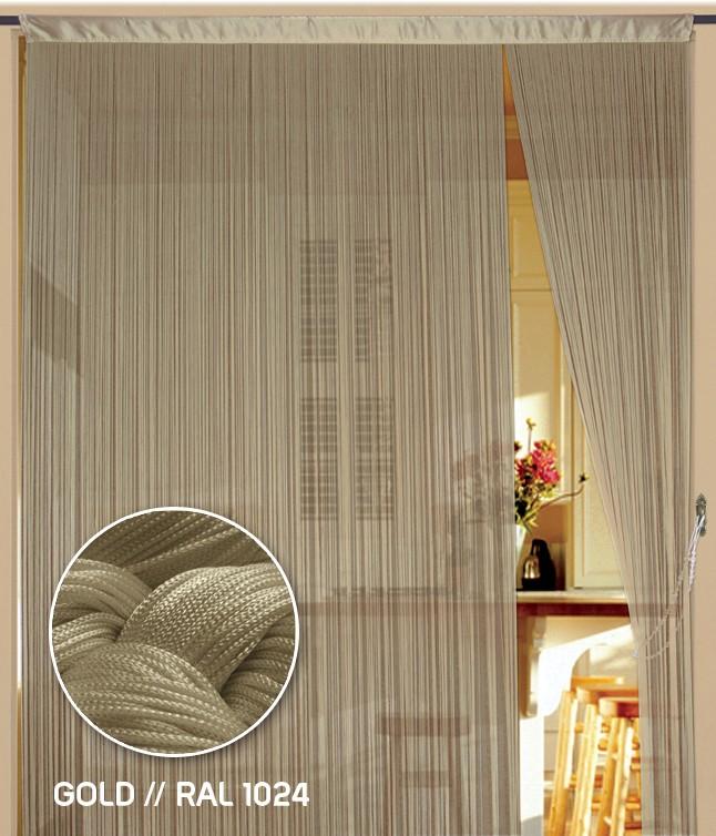 Fadenvorhang 90 cm x 240 cm (BxH) gold