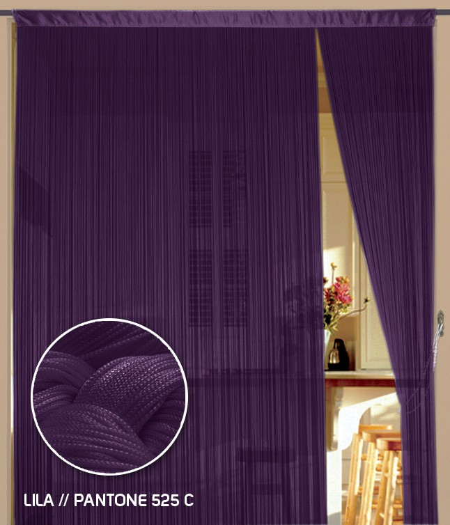 fadenvorhang 90 cm x 240 cm bxh lila fadenvorh nge fadenvorhang fadenvorhang bis 0 9 m. Black Bedroom Furniture Sets. Home Design Ideas