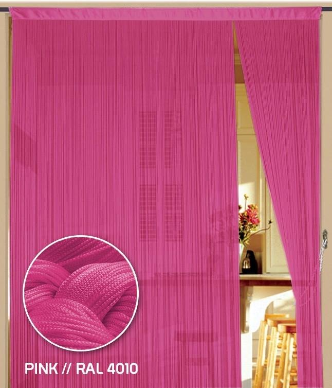 Fadenvorhang 90 cm x 240 cm (BxH) pink
