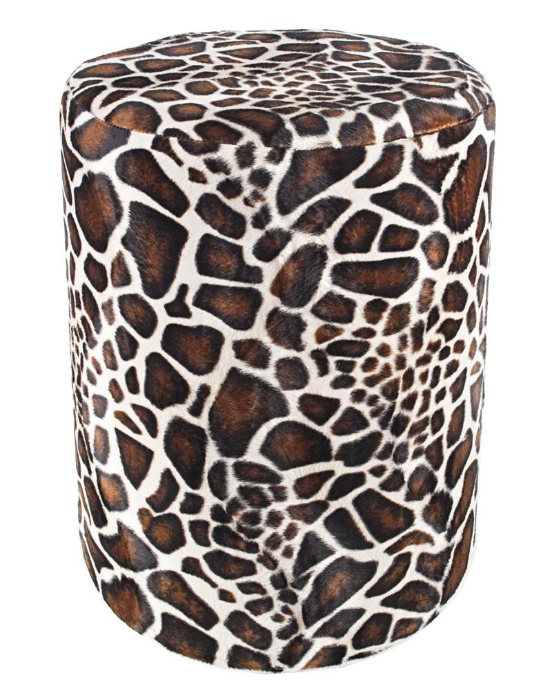 sitzhocker fell imitat giraffe sitzh he 44 cm sitzw rfel. Black Bedroom Furniture Sets. Home Design Ideas