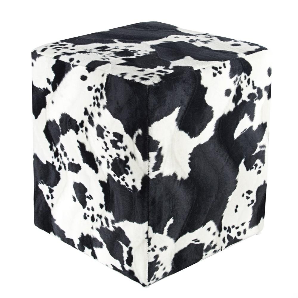 sitzw rfel fell imitat kuhfell schwarz wei sitzw rfel. Black Bedroom Furniture Sets. Home Design Ideas