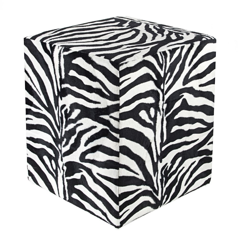 sitzw rfel fell imitat zebra sitzw rfel hocker. Black Bedroom Furniture Sets. Home Design Ideas