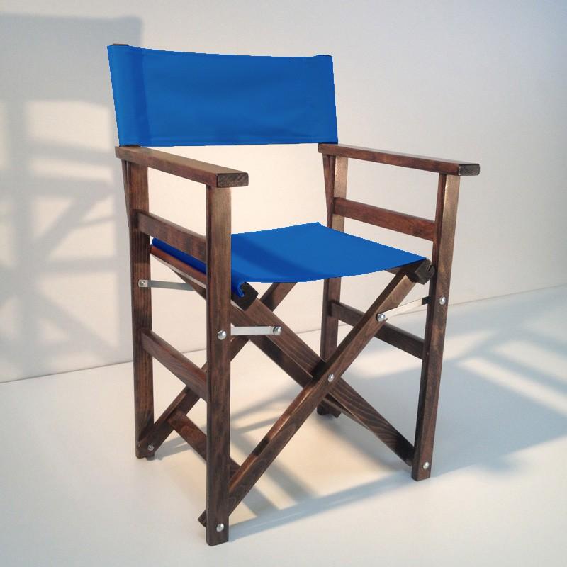 Regiestuhl REGGINA Holz Buche massiv blau Sonstiges Stühle
