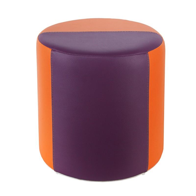 Sitzhocker 2 farbig orange lila 34 x 34cm sitzw rfel for Barhocker farbig