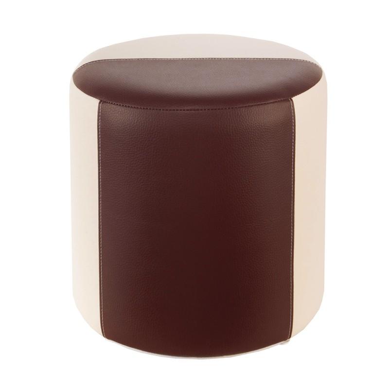 Sitzhocker 2 farbig creme braun 34 x 34cm sitzw rfel for Barhocker farbig