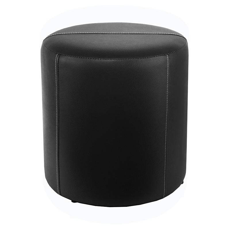 sitzhocker schwarz mit weisser naht 34 x 34cm sitzw rfel. Black Bedroom Furniture Sets. Home Design Ideas