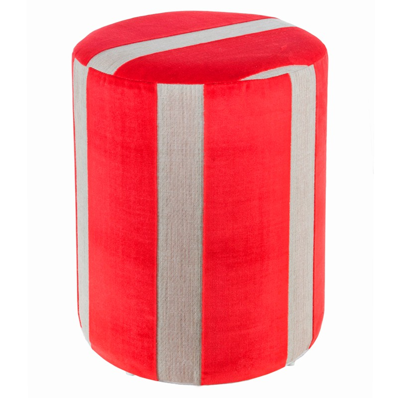 sitzhocker stoff rot grau 34 x 44cm sitzw rfel hocker sitzw rfel hocker sitzhocker h he 44cm. Black Bedroom Furniture Sets. Home Design Ideas