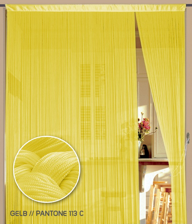 Fadenvorhang 150 cm x 500 cm (BxH) gelb