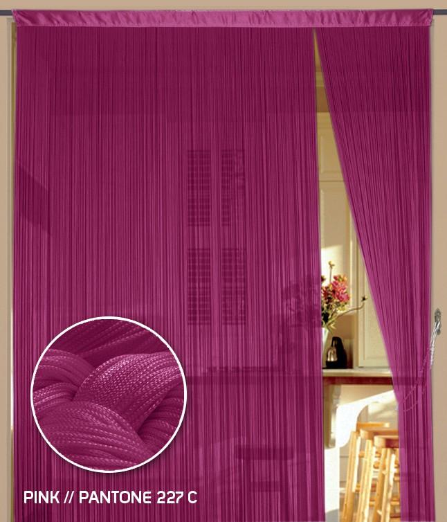 fadenvorhang 150 cm x 300 cm bxh pink fadenvorh nge fadenvorhang fadenvorhang bis 1 5 m. Black Bedroom Furniture Sets. Home Design Ideas